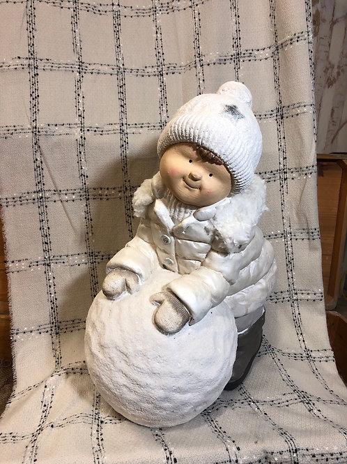 Rolling Snow Statue
