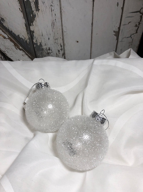Clear Frosted Ornament