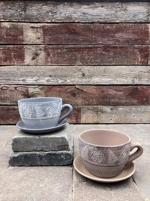 Teacup Planter with Saucer