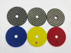 Diamon Polishing Pads 3 Step