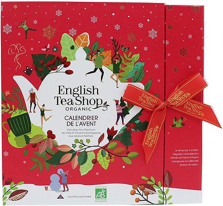 Calendrier de l'Avent livre English Tea rouge BIO