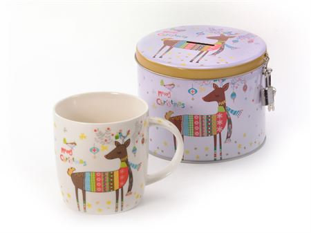 Mug Cerf Tirelire Noël