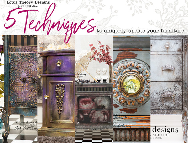 5 Techniques to Uniquely Update Your Furniture!
