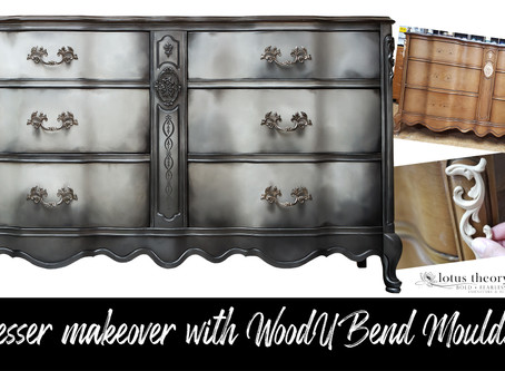 Dresser Makeover with WoodUBend Mouldings