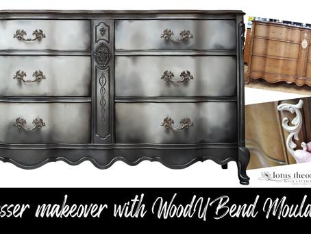 Dresser Makeover with WoodUBend Mouldings