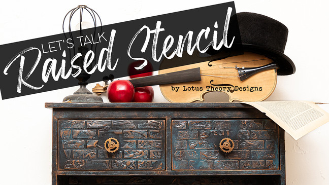 Let's Talk Raised Stencil!