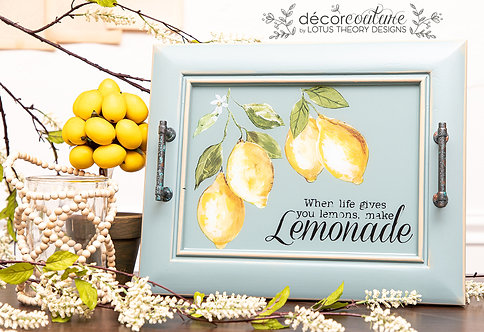 """When Life Gives You Lemons"" Tray with Epoxy"