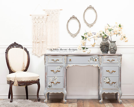 Tranquil Blue Desk or Vanity