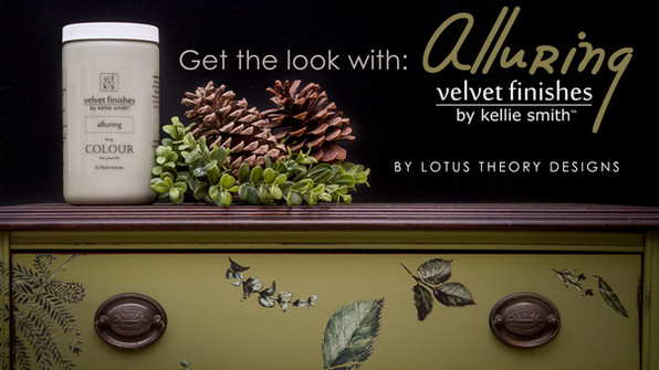 Get the look: Alluring by Velvet Finishes