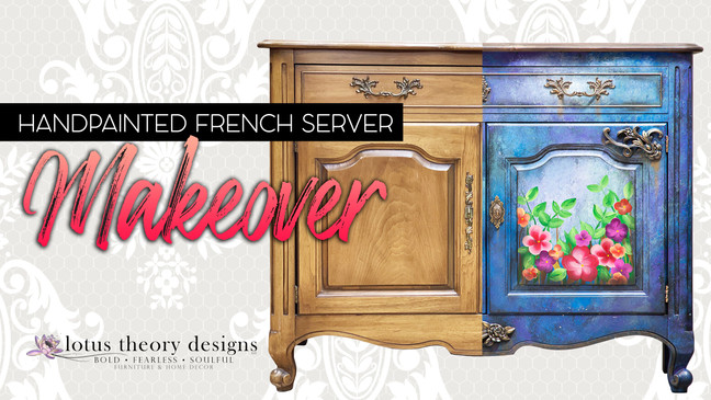 Grunge French Provincial Serving Table Makeover