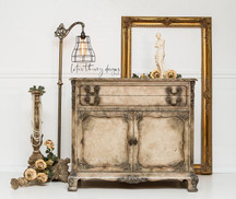 Old world finish server buffet painted in Dixie Belle Paint with texture