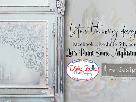 FB Live June 6th, 2019 - Let's Paint Some Nightstands!