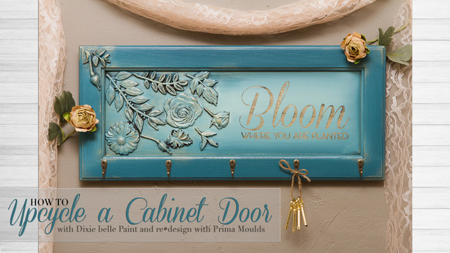 From an old cabinet door to wall art!