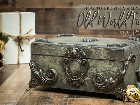 Create and Old World Finish on a Simple Box