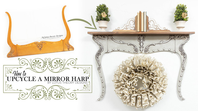 How to Upcycle a Mirror Harp