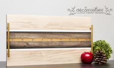 Handmade Poplar Decorative Serving Tray with Epoxy Inlay
