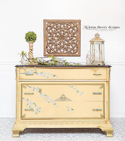 Yellow Three Drawer Dresser