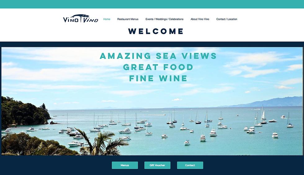 Website Design for Vino Vino Restaurant New Zealand