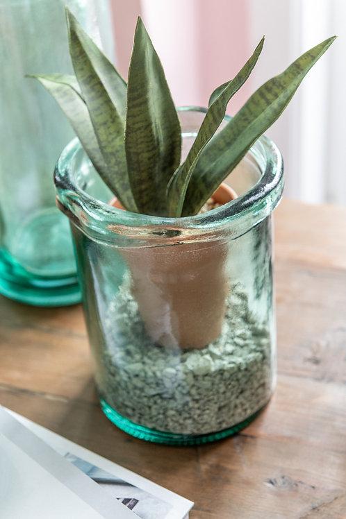 Vase Virginie Verre Vert Small