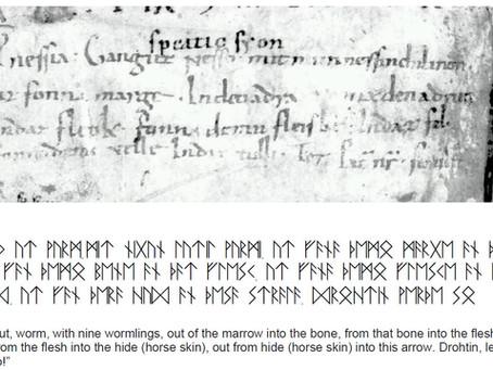 Historical Heathen Charms, Runes, Prayers for Healing