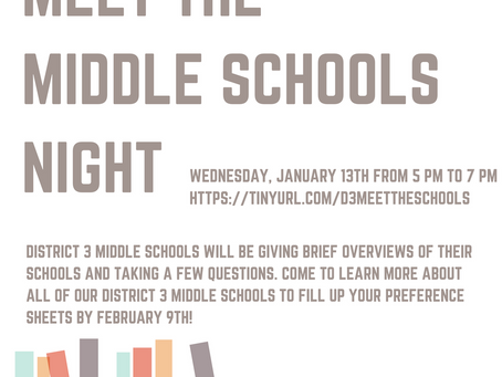 Meet the Middle Schools Night
