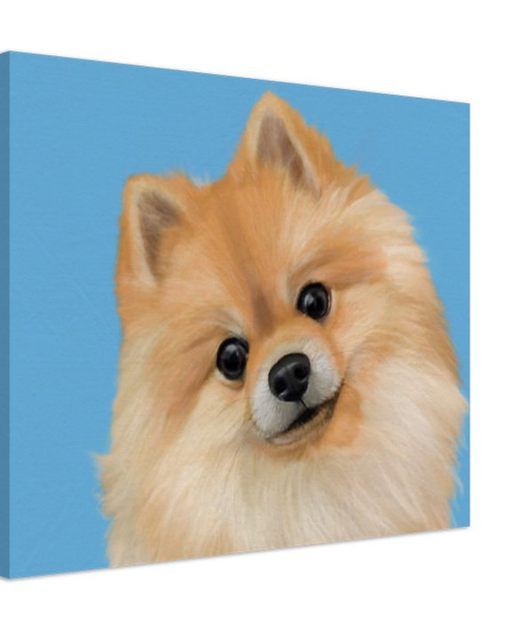 Custom pet portrait painting print on canvas