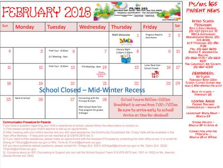 February School Calendar