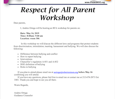 Respect for All Workshop