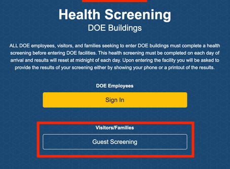 How to Complete the DOE Health Screening Form