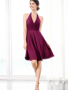 Mulberry Colored Bridesmaid Dresses