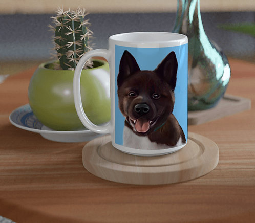 Personalized gift Pet portrait ceramic mug 15oz (450ml)