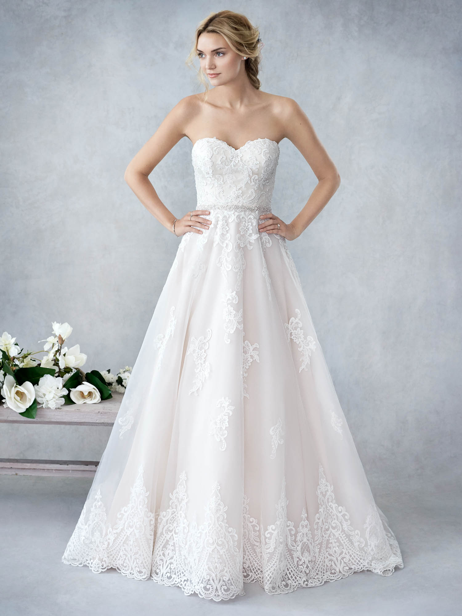 794a13934aaf ella rosa spring 2017 bridal strapless sweetheart neckline wrap over bodice  simple layer skirt ball gown a line wedding dress open back chapel train ( 376) .