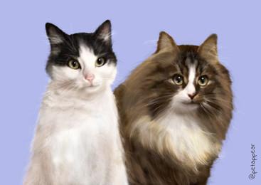 Aya and Felix portrait