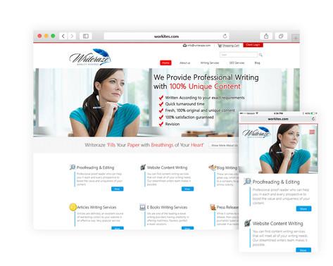 Writeraze Mockup Design