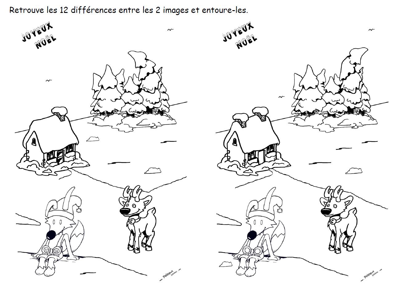 12 différences maison Sapins