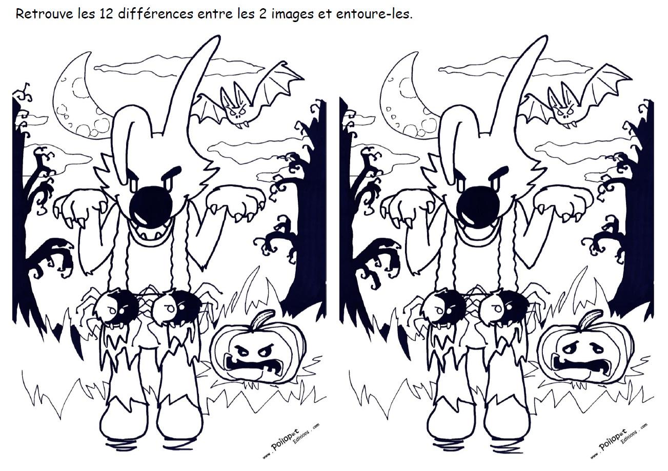 12 différences - Poilopat Halloween