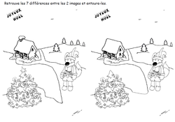 7 différences Maison sapin