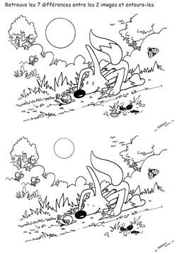 7 différences - Poilopat Nature