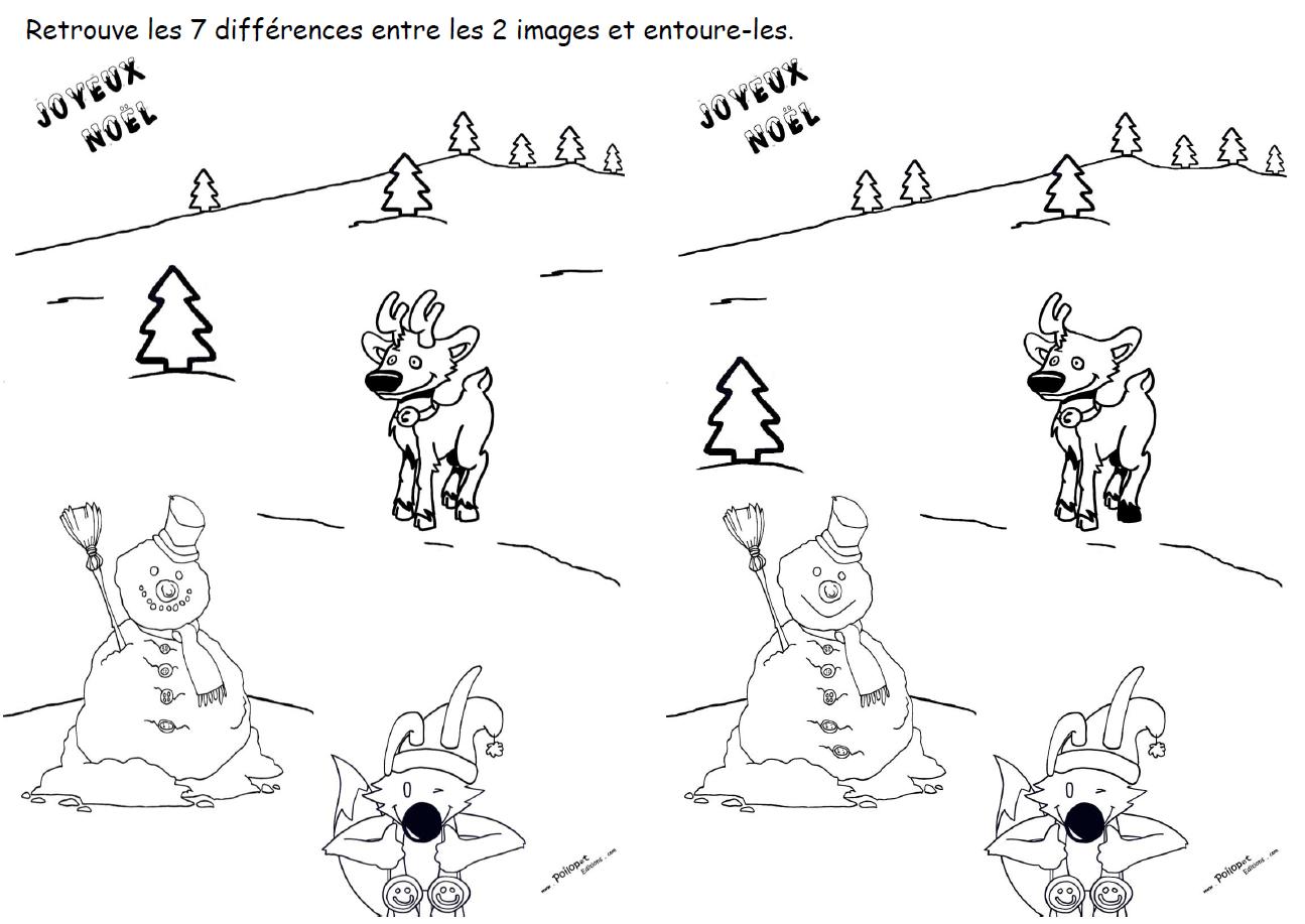 7 différences Bonhomme Cerf