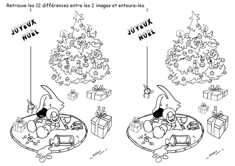 12 différences Poilopat Bb sapin