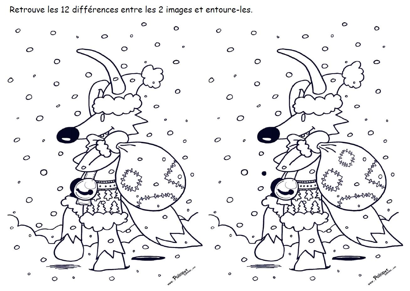 12 différences - Poilopat Neige