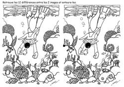 12 différences - Poilopat Plongeur