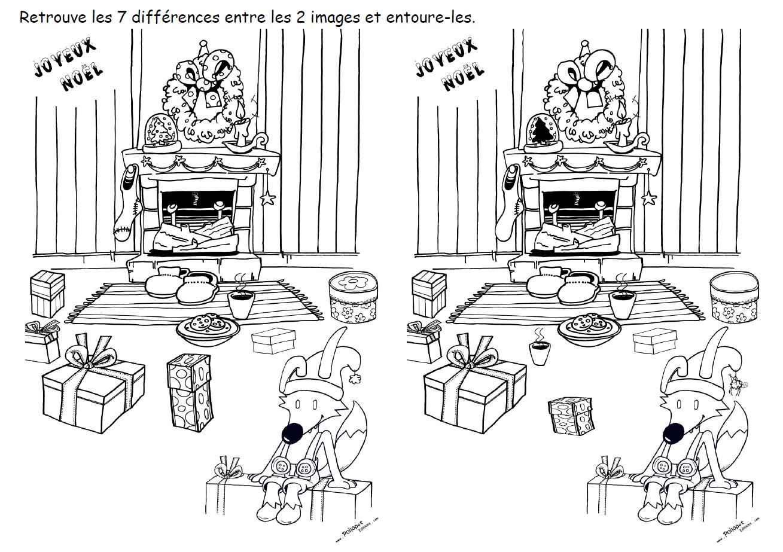 7 différences Assis Cheminée