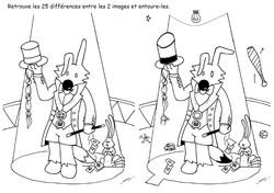 25 différences - Poilopat Magicien