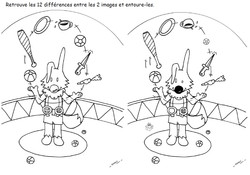 12 differences - Poilopat Jongleur