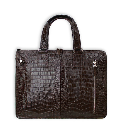 ZAHA CROCODILE PORTFOLIO LAPTOP BAG