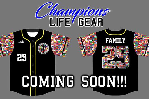 Champions Life Custom Baseball Jersey (Black)