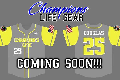 Champions Life Custom Baseball Jersey (Grey)