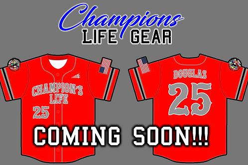 Champions Life Custom Baseball Jersey (Red)