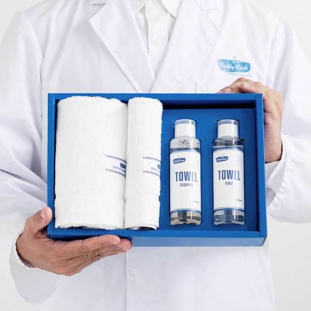 HAND & FACE TOWEL + TOWEL CARE GIFT SET